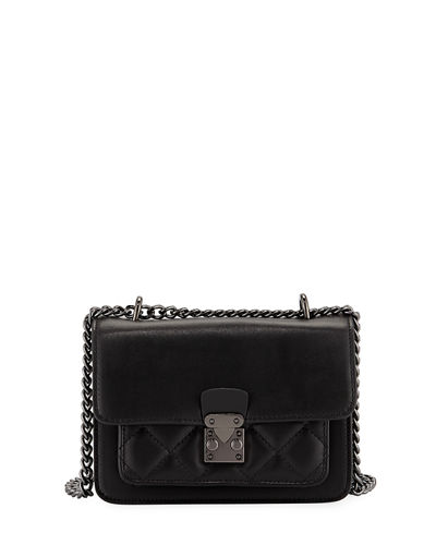 Sia Mini Quilted Leather Crossbody Bag