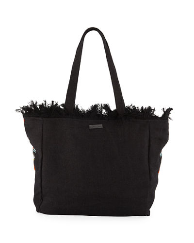 Saffire Embroidered Canvas Tote Bag