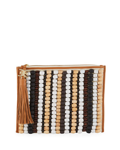 Prudence Beaded Clutch Bag