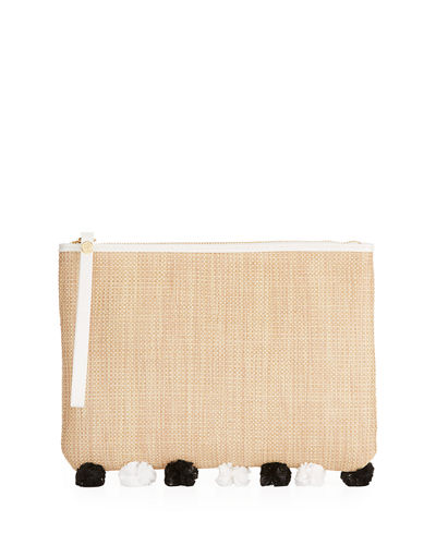 Rosalind Straw Clutch Bag