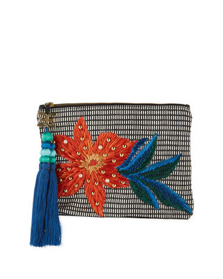 SHEILA EMBROIDERED CLUTCH BAG