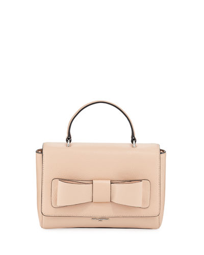 Karl Lagerfeld Paris Bobbi Bow Pebble Leather Crossbody