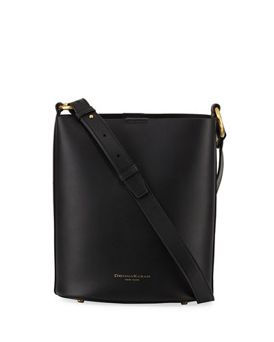 Adan Smooth Leather Bucket Bag