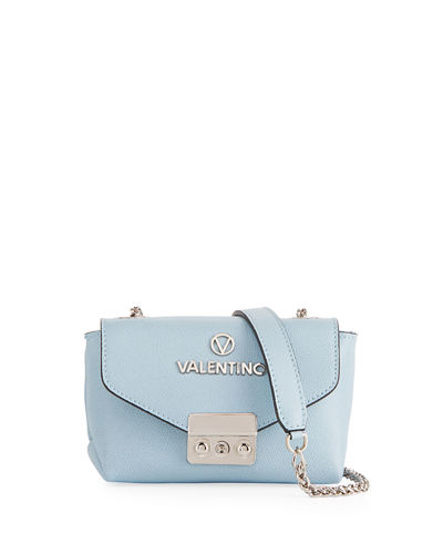 Lola Dollar Leather Chain Shoulder Bag - Silvertone Hardware