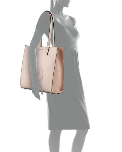 Laurene Dollaro Leather Shoulder Tote Bag