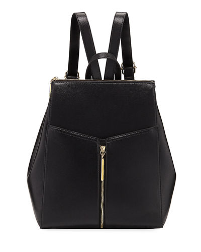 Saffiano Faux-Leather Backpack