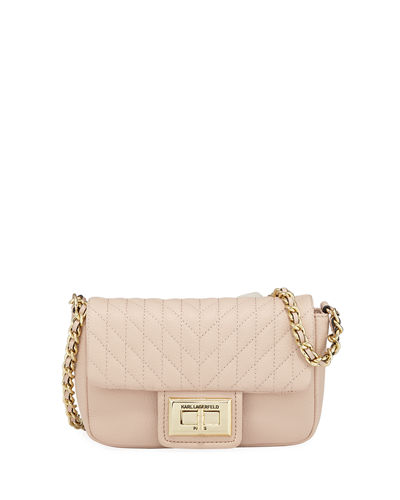 Agyness Quilted-Leather Crossbody Bag