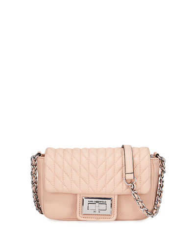 Karl Lagerfeld Paris Agyness Quilted-Leather Crossbody Bag