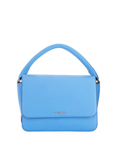 Babette Leather Flap-Top Satchel Bag