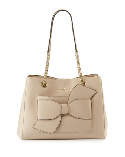 Karl Lagerfeld Paris Janelle Fara Bow-Pocket Shoulder Tote