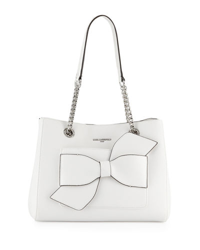 Janelle Fara Bow-Pocket Shoulder Tote Bag
