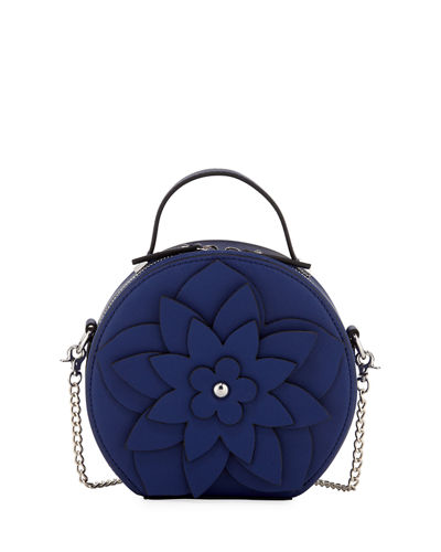 Selma Mini Round Hatbox Crossbody Bag