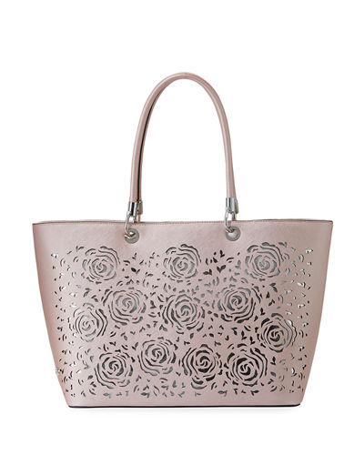 Christian Siriano Michelle Laser-Cut Tote Bag