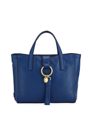 Fantine O Ring Group Small Tote Bag, Navy