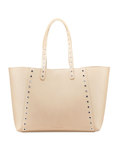 Ansley Smooth Grommet Tote Bag