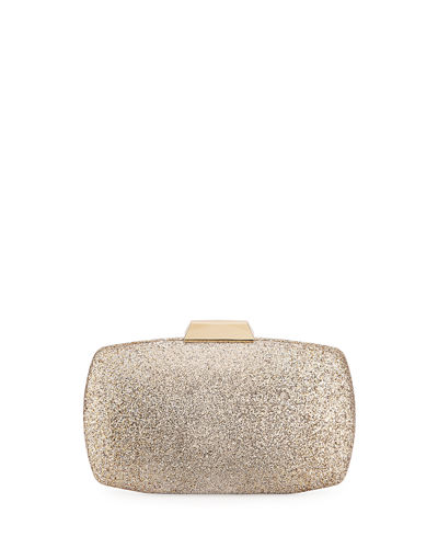 Ombré Glitter Oval Box Clutch Bag