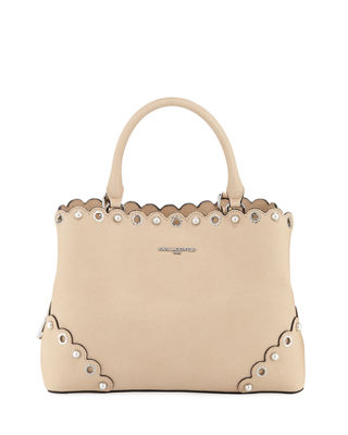 ELSA SAFFIANO LEATHER SATCHEL BAG