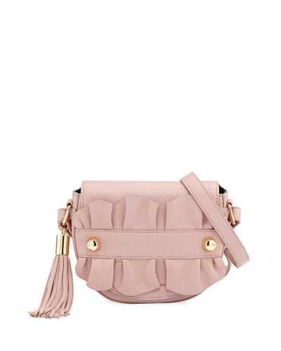 Milly Astor Ruffle Small Saddle Bag