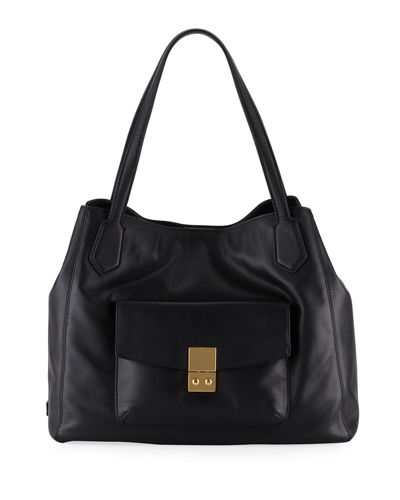 Allanna Work Leather Tote Bag