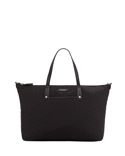 Iconic American Designer Nylon East-West Tote Bag