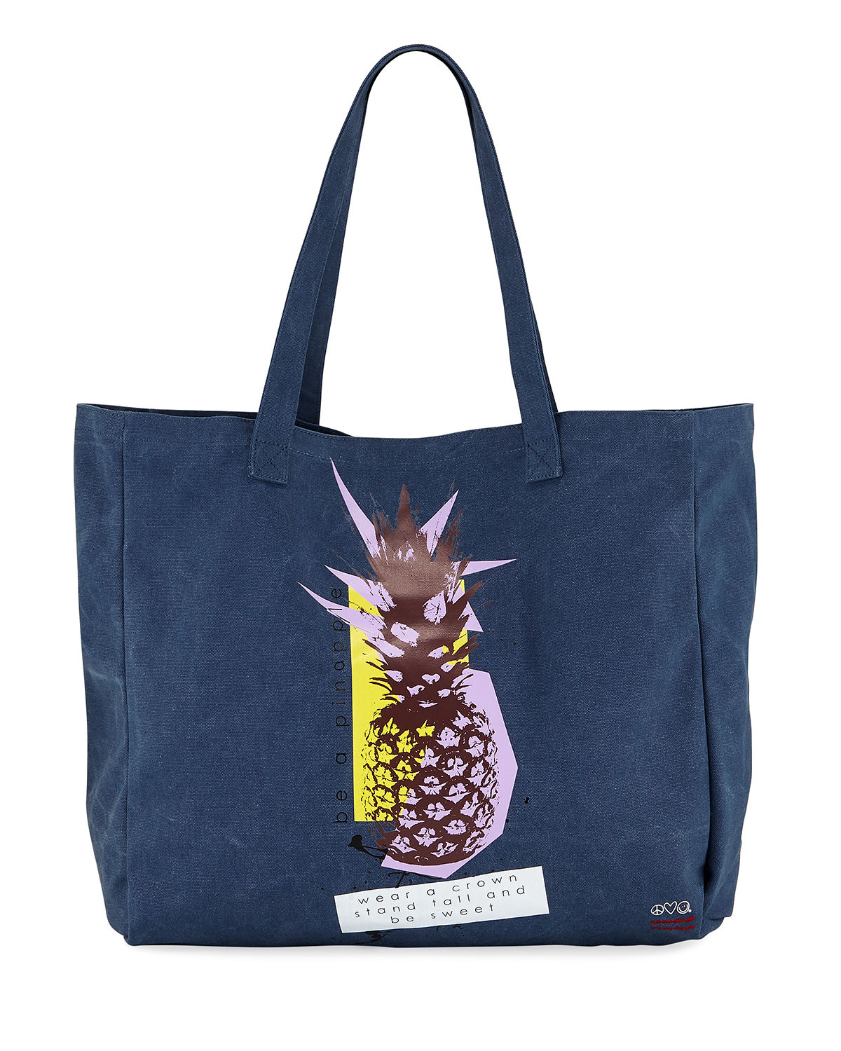 Oversized Canvas Graphic Tote Bag