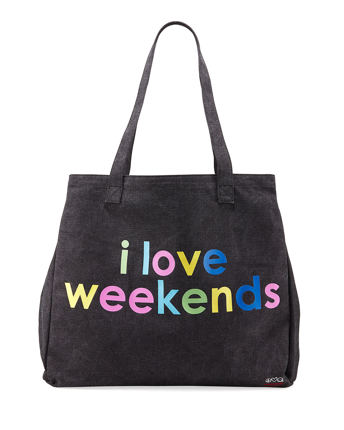 Rainbow Oversized Canvas Tote Bag