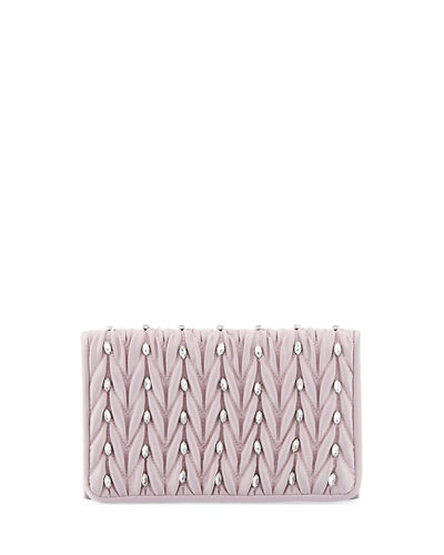 Sutton Quilted Flap Clutch Bag
