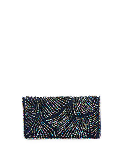 Adrianna Papell Nixie Beaded Flap Clutch Bag