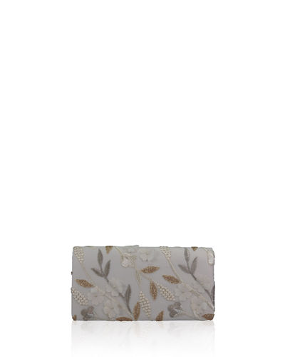 Nell Floral Roll Clutch Bag