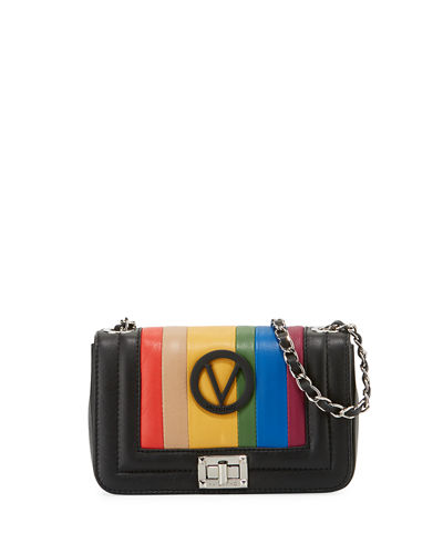 Beatriz Rainbow Quilted Leather Shoulder Bag
