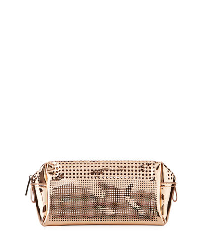 Perforated Metallic Cosmetic Bag