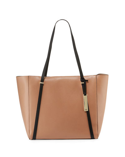 Sarah Two-Tone Tote Bag with Charger