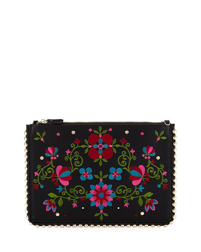 Flora Pouch Clutch Bag