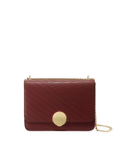 Diagonal Quilted Flap Crossbody Bag