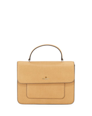 AMELIE SAFFIANO SATCHEL BAG