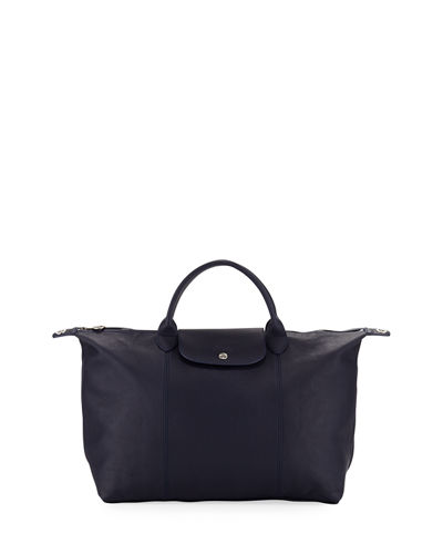 Longchamp Le Pliage Cuir Large Tote Bag