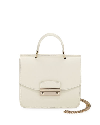 Furla Julia Mini Saffiano Leather Top-Handle Crossbody Bag