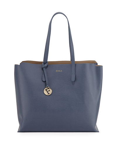 Sally Large Saffiano Leather Shoulder Tote Bag