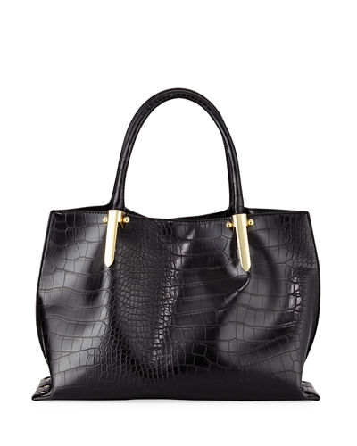 Willow Exotic-Embossed Satchel Bag