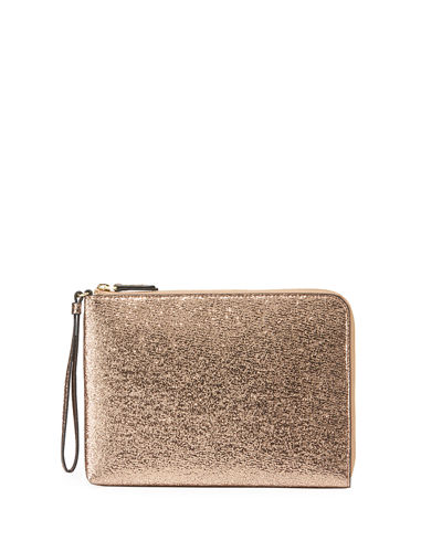 Large Glitter Charging Wristlet Clutch Bag
