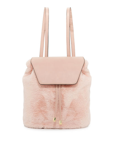 Megan Faux-Fur Backpack