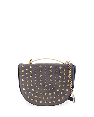 Crescent Studded Crossbody Bag