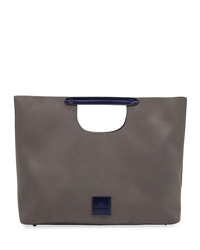 Faux-Suede Hand Tote Bag