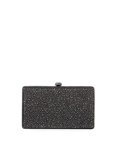 Crystal-Embellished Minaudiere Bag