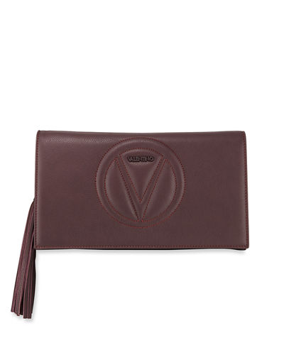 Lena Sauvage Leather Clutch Bag