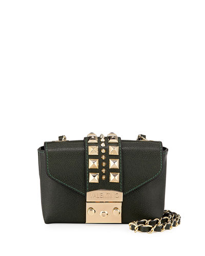 VALENTINO BY MARIO VALENTINO PAULETTE PALMELLATO LEATHER CROSSBODY BAG - GOLDEN HARDWARE