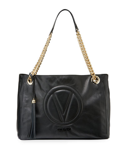 Verra Sauvage Leather Shoulder Tote Bag