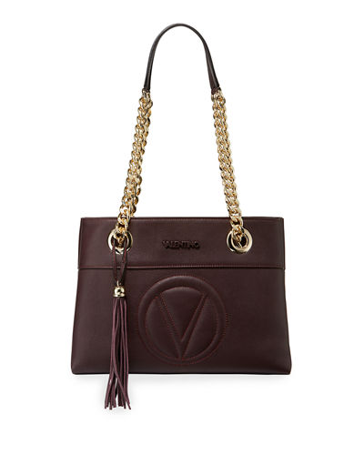 Kali Leather Chain-Strap Tote Bag