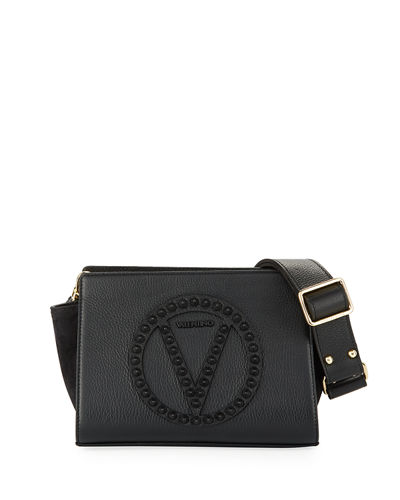 Kiki Rock Dollaro Leather Crossbody Bag