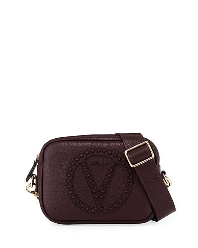 Mia Studded Dollaro Leather Crossbody Bag